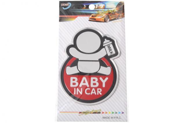 Foto 7 - Kovová samolepka BABY IN CAR 7cm x 10cm