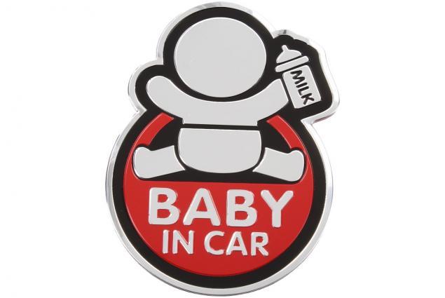Foto 4 - Kovová samolepka BABY IN CAR 7cm x 10cm