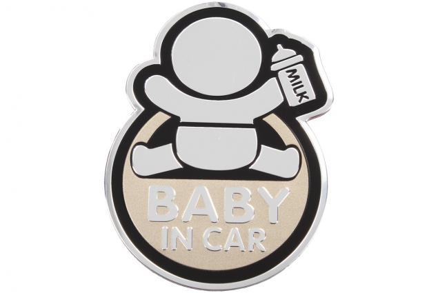 Foto 6 - Kovová samolepka BABY IN CAR 7cm x 10cm