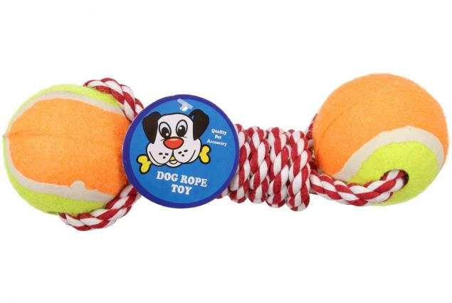 Foto 4 - Hračka pro psa 2 tenisáky s provazem