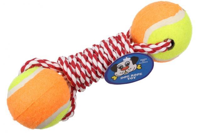 Foto 5 - Hračka pro psa 2 tenisáky s provazem