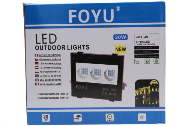 Foto 11 - LED super výkonný reflektor FOYU 30W plochý