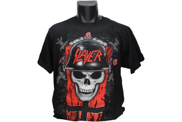Foto 4 - Tričko lebka v helmě Slayer