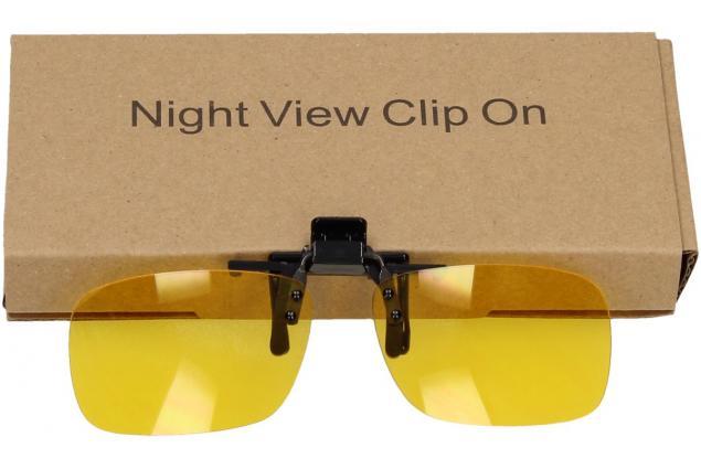 Foto 13 - Polarizační klip na brýle žlutý do tmy a mlhy