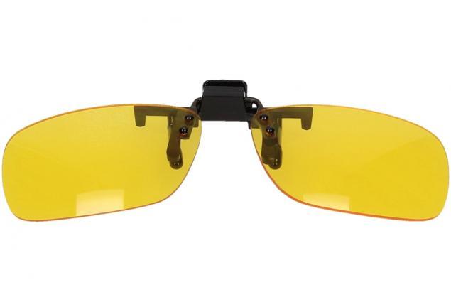 Foto 4 - Polarizační klip na brýle žlutý do tmy a mlhy