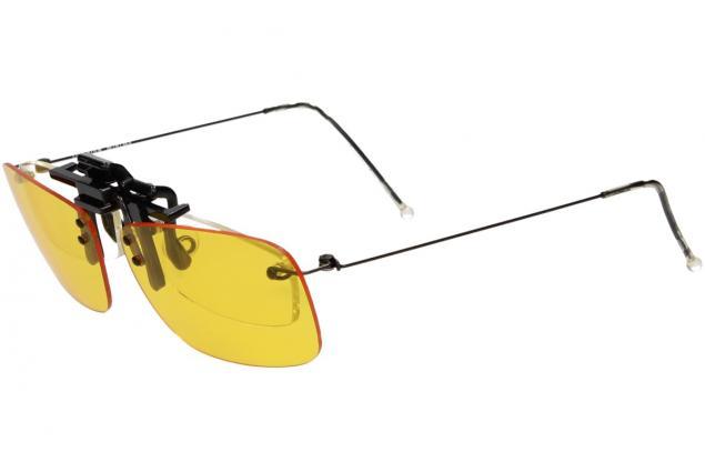Foto 6 - Polarizační klip na brýle žlutý do tmy a mlhy