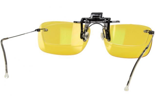 Foto 8 - Polarizační klip na brýle žlutý do tmy a mlhy