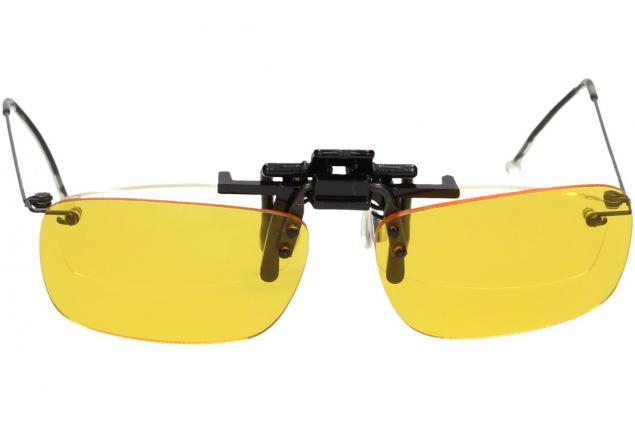 Foto 5 - Polarizační klip na brýle žlutý do tmy a mlhy