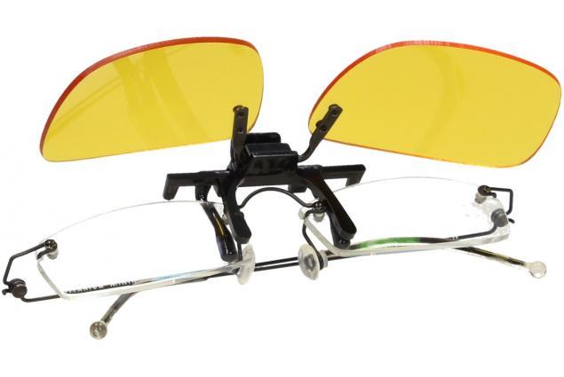Foto 10 - Polarizační klip na brýle žlutý do tmy a mlhy