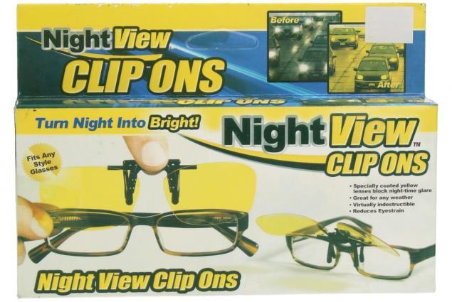 Foto 14 - Polarizační klip na brýle žlutý do tmy a mlhy