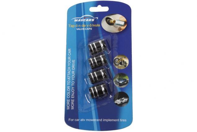 Foto 7 - Ozdobné čepičky na ventilky sada 4 ks černé