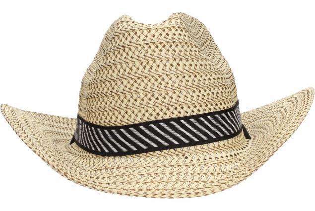 Foto 2 - Slaměný kovbojský klobouk velký světlý