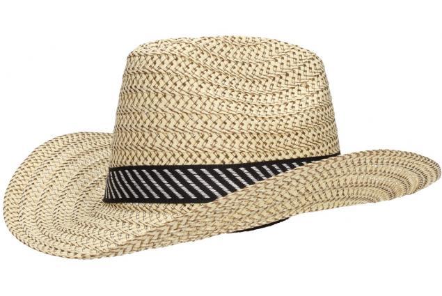 Foto 3 - Slaměný kovbojský klobouk velký světlý