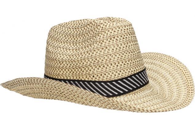 Foto 4 - Slaměný kovbojský klobouk velký světlý