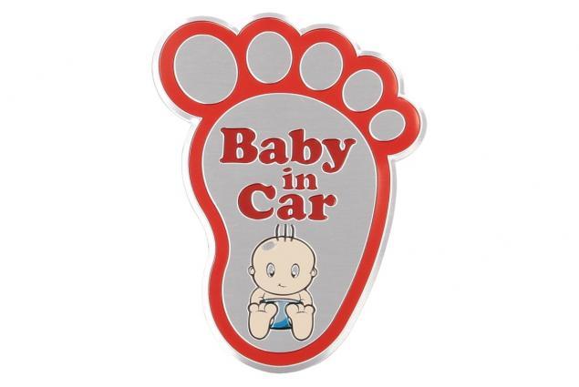 Foto 4 - Kvalitní samolepka z hliníku Baby In Car ťápota