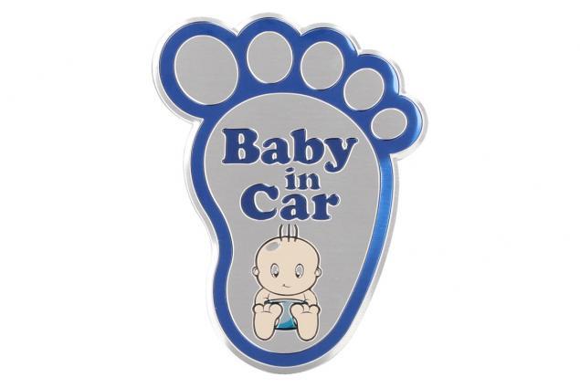 Foto 5 - Kvalitní samolepka z hliníku Baby In Car ťápota