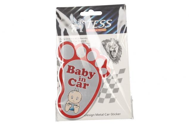 Foto 6 - Kvalitní samolepka z hliníku Baby In Car ťápota