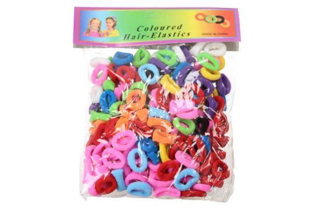Foto 2 - Barevné gumičky do vlasů 200 kusů