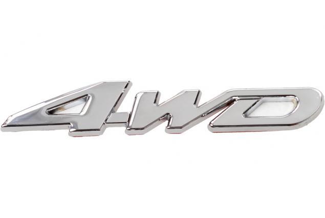 Foto 3 - Kovová samolepka 4WD stříbrná