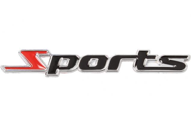 Foto 3 - Kovová samolepka Sports černá 11cm x 1,5cm