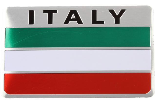 Foto 2 - Kovová samolepka Italy 8 cm x 5 cm x 1 mm