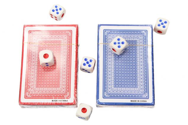 Foto 4 - Karty na poker s kostkami 108 kusů