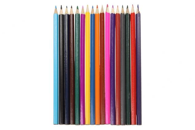 Foto 2 - Barervné pastelky pro školáky 18 kusů