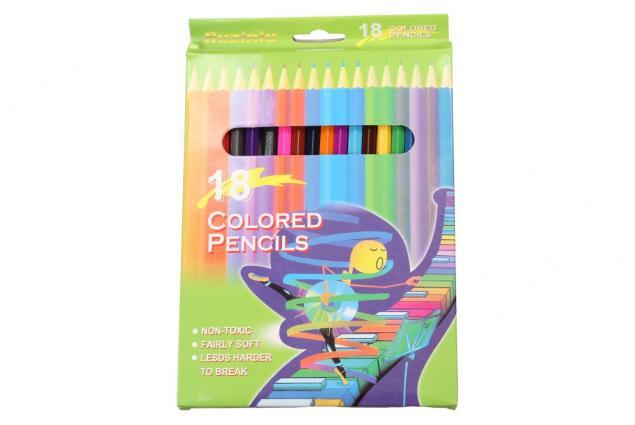 Foto 3 - Barervné pastelky pro školáky 18 kusů