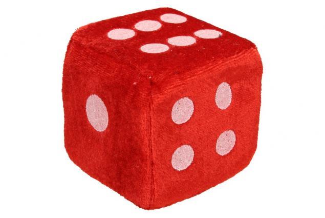 Foto 4 - Plyšové hrací kostky 7 cm
