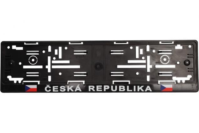 Foto 2 - Tabulka pod SPZ ČR vlajky