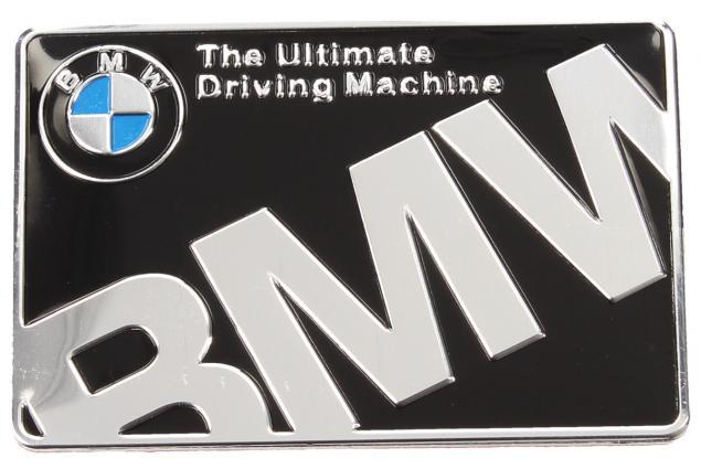 Foto 2 - Kovová samolepka BMW The Ultimate Driving Machine  6x4 cm