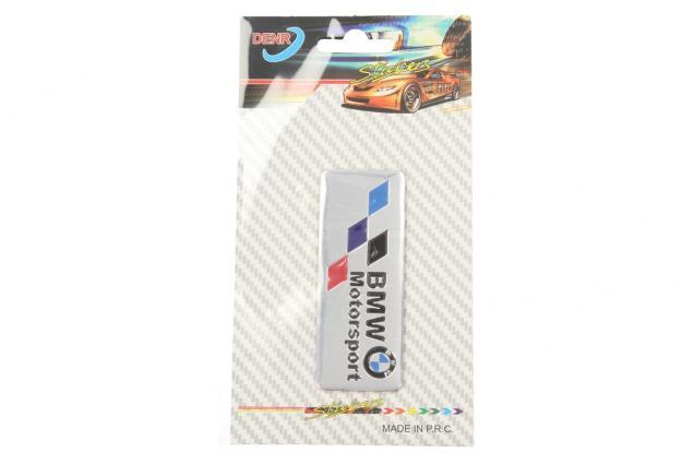 Foto 3 - Kovová samolepka BMW Motorsport stříbrná 8x3 cm