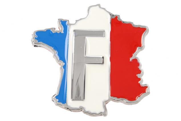 Foto 2 - Kovová samolepka Francie 5,5 x 6 cm