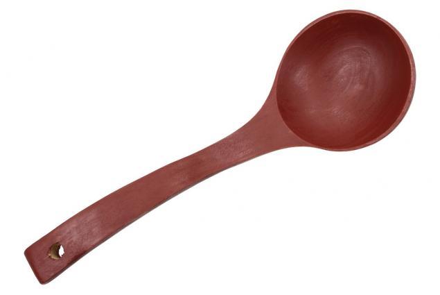 Foto 3 - Naběračka dřevěná starodávná 27 cm