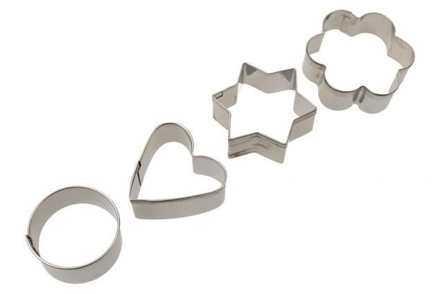 Foto 2 - Vykrajovátka kovová sada 4 druhy 12 kusů