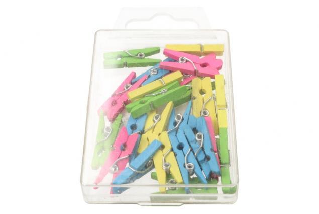 Foto 3 - Dřevěné barevné mini kolíčky sada 25 kusů