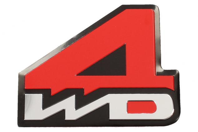 Foto 2 - Kovová samolepka 4WD červená 7 x 5,5 cm