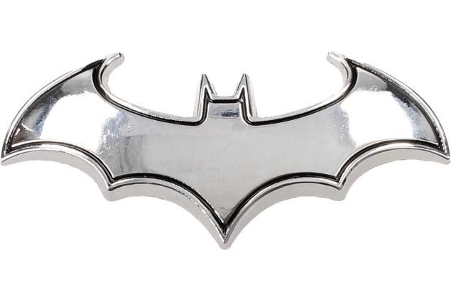 Foto 2 - Kovová samolepka Batman 8 x 3 cm stříbrná