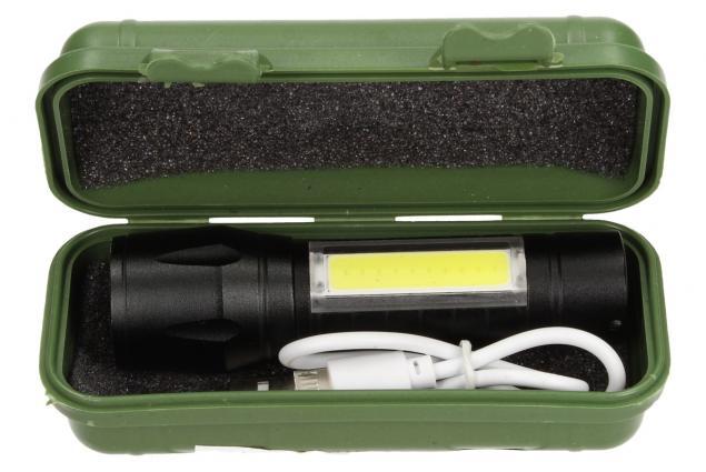 Foto 2 - Vodotěsná a nárazuvzdorná nabíjecí LED baterka 2v1 se ZOOMEM