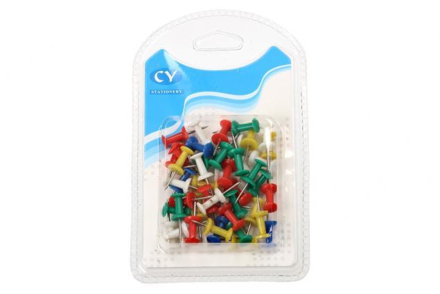 Foto 2 - Kancelářské barevné spínáčky sada 50 kusů