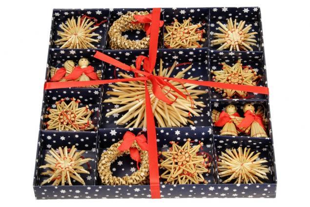 Foto 3 - Vánoční slaměné dekorace na stromeček 26 kusů
