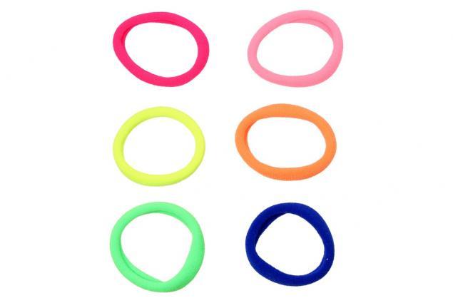Foto 3 - Pevné barevné gumičky do vlasů Sada 6 kusů