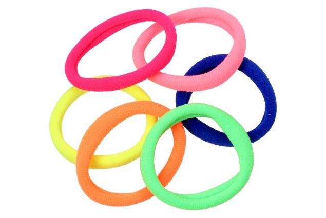 Foto 4 - Pevné barevné gumičky do vlasů Sada 6 kusů
