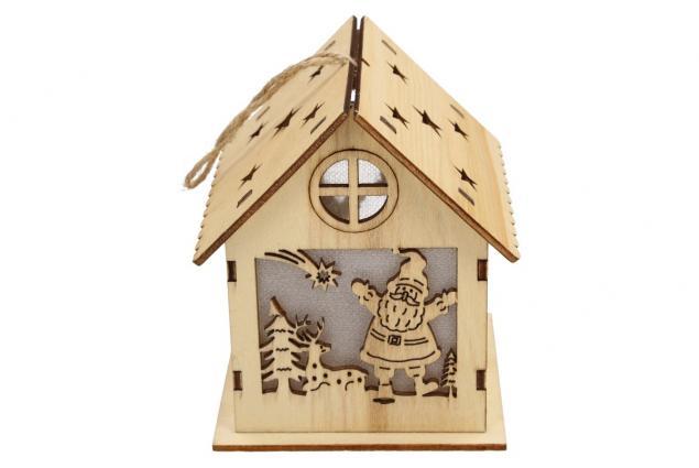 Foto 3 - Svíticí Vánoční chaloupka dřevěná velká