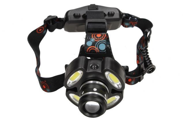 Foto 2 - Nabíjecí čelovka s pětí LED COB světlomety