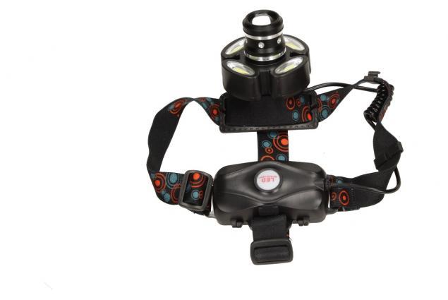 Foto 4 - Nabíjecí čelovka s pětí LED COB světlomety