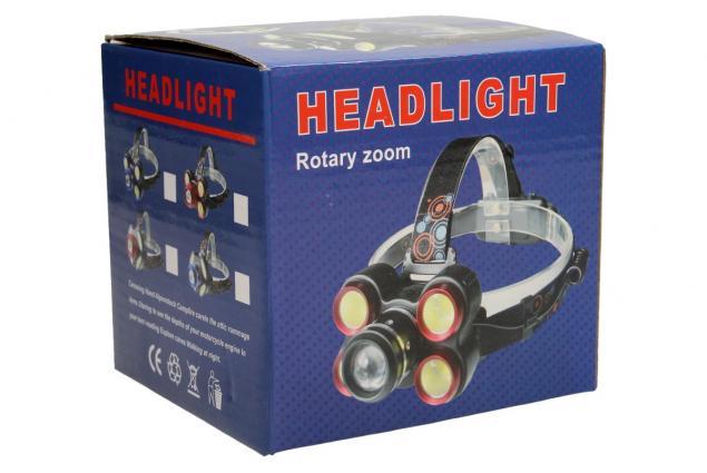 Foto 6 - Nabíjecí čelovka s pětí LED COB světlomety