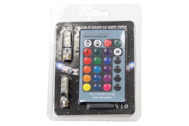 Foto 4 - Univerzální magická žárovka Auto T10 RGB LED 2 kusy