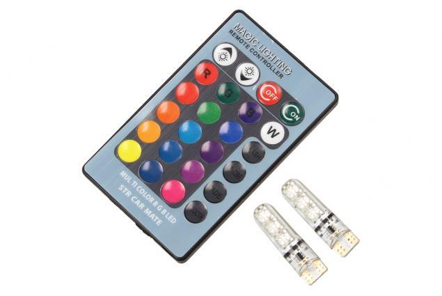 Foto 6 - Univerzální magická žárovka Auto T10 RGB LED 2 kusy