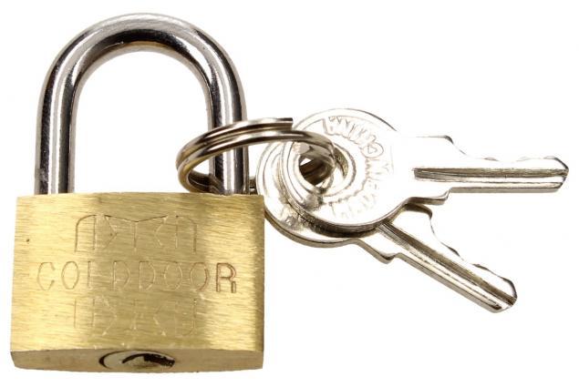 Foto 2 - Malý bezpečnostní visací zámek s klíči 25 mm